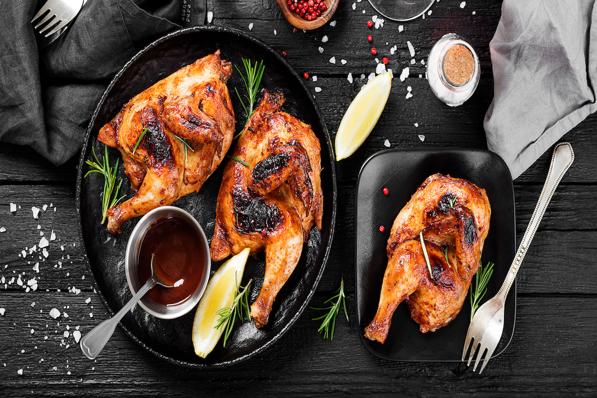 Grilled Chicken Legs by Hilltop Acres
