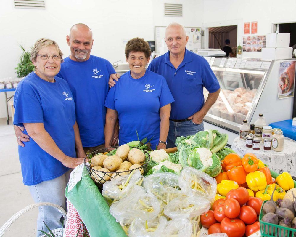 Charlene, Mike, Karen and Don at Hilltop Acres Poultry Products.