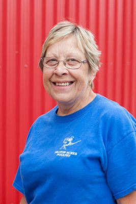 Charlene at Hilltop Acres Poultry Products