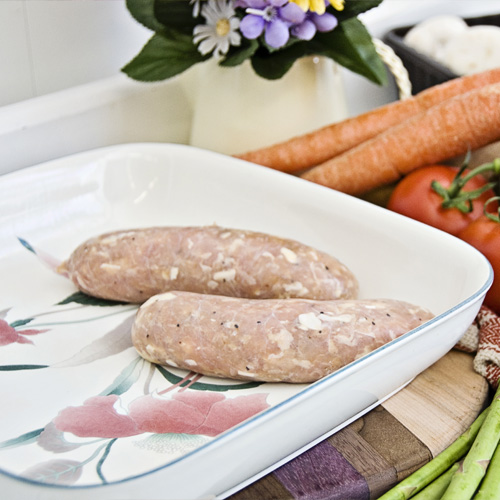 Chicken Garlic Sausage without Salt by Hilltop Acres Poultry Products