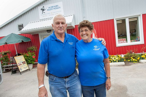 Don Reist and Karen Reist at Hilltop Acres Poultry Products.