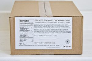 Frozen Breaded Chicken Schnitzel by Hilltop Acres Poultry Products