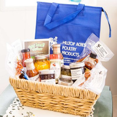 Gift Basket Prize by Hilltop Acres Poultry Products