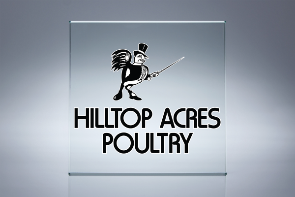 Hilltop Acres Poultry Products - Logo Display