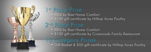 Recipe Contest Prizes by Hilltop Acres Poultry Products