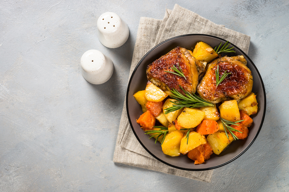 Roasted Chicken and Root Vegetables by Hilltop Acres
