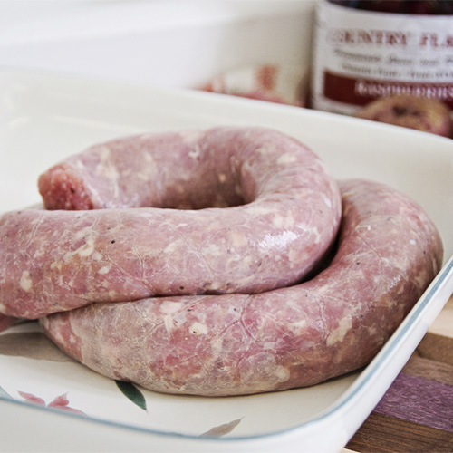 Turkey - Turkey Garlic Sausage by Hilltop Acres Poultry Products